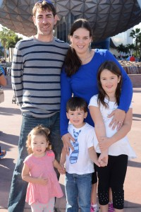 us in front of epcot